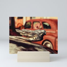 Winged Woman Hood Ornament Mini Art Print