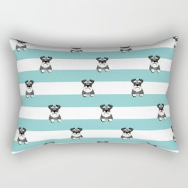 schnauzer stripes dog breed gifts Rectangular Pillow