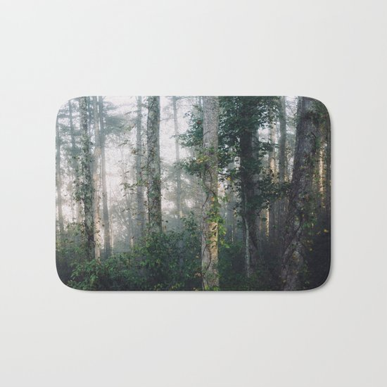 forest fog Bath Mat