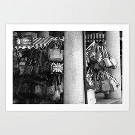 Bag Stall, Covent Garden Market, London Art Print