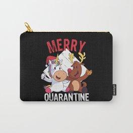 Quarantine Unicorn Reindeer Christmas Carry-All Pouch