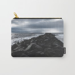 Rocky Pier in Vík, Iceland Carry-All Pouch