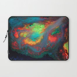 """Titan"" Mixed media color on canvas, abstract painting red blue green yellow contemporary art Laptop Sleeve"