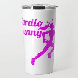 Cardio Bunny Cute Fitness Gym Workout  Travel Mug