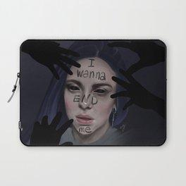 Bury A Friend | Billie Eilish Digital Portrait Dark Laptop Sleeve