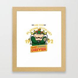Kart Driver II Framed Art Print