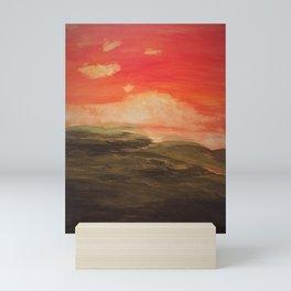 Orange skies Mini Art Print