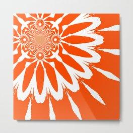 The Modern Flower Orange Metal Print