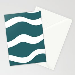 Sailing in the wind - musty green Stationery Cards
