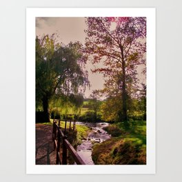 The River by the Watermill Art Print