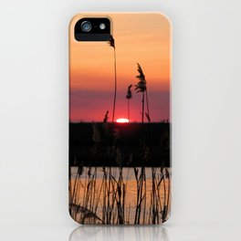 Watercolor Sunset, Janes Island 05, Maryland iPhone Case