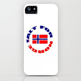 motto of norway 3 -alt for norge iPhone Case