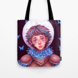 Flower Knight Tote Bag