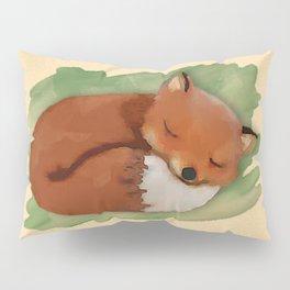 Sleepy Watercolor Fox Pillow Sham