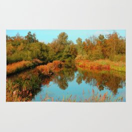 Autumn Colors Pond and Trees Rug