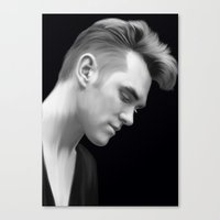 smiths Canvas Prints featuring The Smiths by tospeakisasin