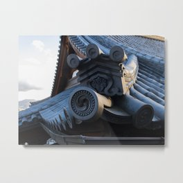 Japanese traditional temple roof 2 Metal Print