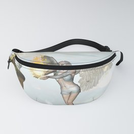 Wonderful fairy  on the rock Fanny Pack
