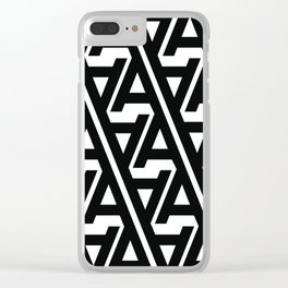 "Typographic Pattern ""A"" Clear iPhone Case"