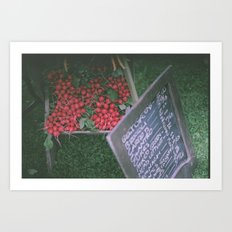 At the Farmer's Market Art Print