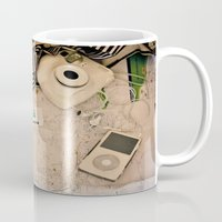 vintage map Mugs featuring Map by Carmen Moreno Photography