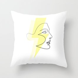 Decade Dance - one line energy Throw Pillow