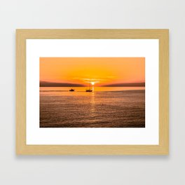 Finish of the day Framed Art Print