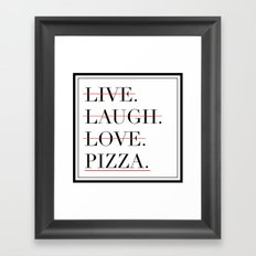 italian proverb Framed Art Print
