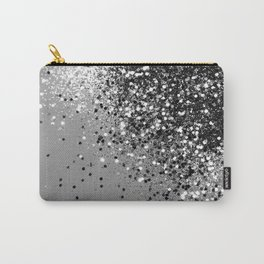 Sparkling Silver Gray Lady Glitter #1 #shiny #decor #art #society6 Carry-All Pouch