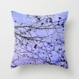 boughs ultraviolet Throw Pillow