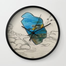 Island Diving Wall Clock