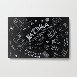 Big Bang Pattern Metal Print