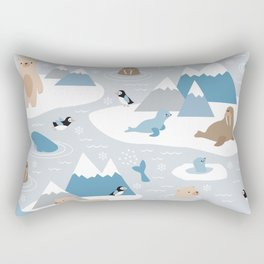Arctic animals Rectangular Pillow