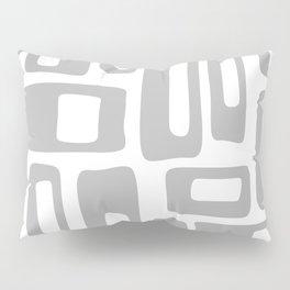 Retro Mid Century Modern Abstract Pattern 336 Gray Pillow Sham