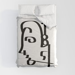 Numbers Face Comforters