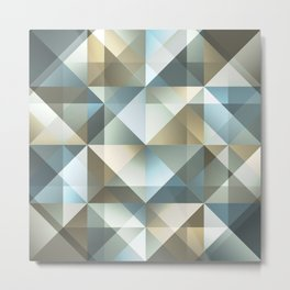 Gradient Diamonds Metal Print
