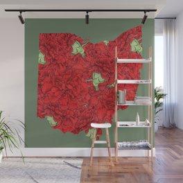 Ohio in Flowers Wall Mural