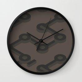 Truffle Abstract Keyhole Geo Wall Clock