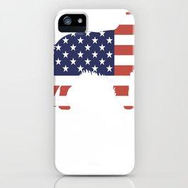 Australian-Shepherd-tshirt,-patriotic-Australian-Shepherd iPhone Case