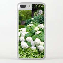 Bountiful White Hydrangea's Clear iPhone Case