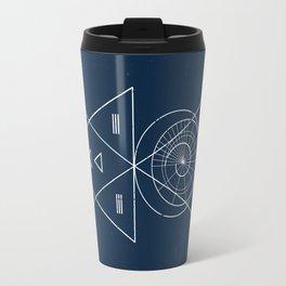 Espiral Triangle Blue Travel Mug