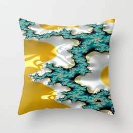 Sapphire Buttress Throw Pillow
