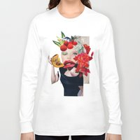 pumpkin Long Sleeve T-shirts featuring Pumpkin  by polina stroganova collages