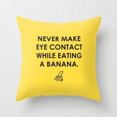 Eating a Banana Throw Pillow