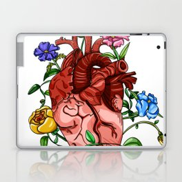 An Overgrown Floral Heart Laptop & iPad Skin