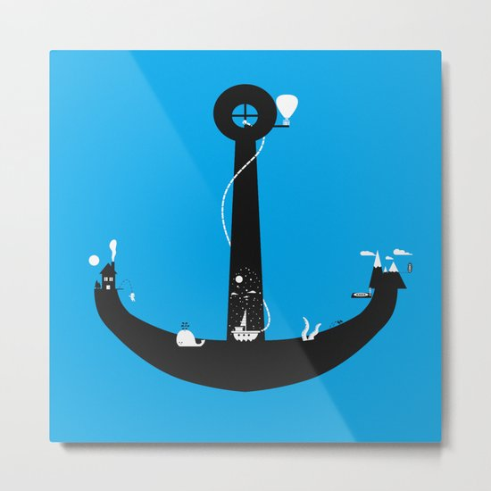 Adventure Is My Anchor Metal Print