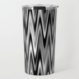 WAVY #1 (Black, White & Grays) Travel Mug