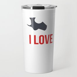 Standing Exercise Workout Body Weight Gymnastics I Love One Hand Push Up Fitness Gift Travel Mug