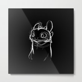 Toothlessketch Metal Print