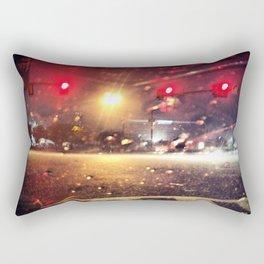 Rainy Night Out Rectangular Pillow